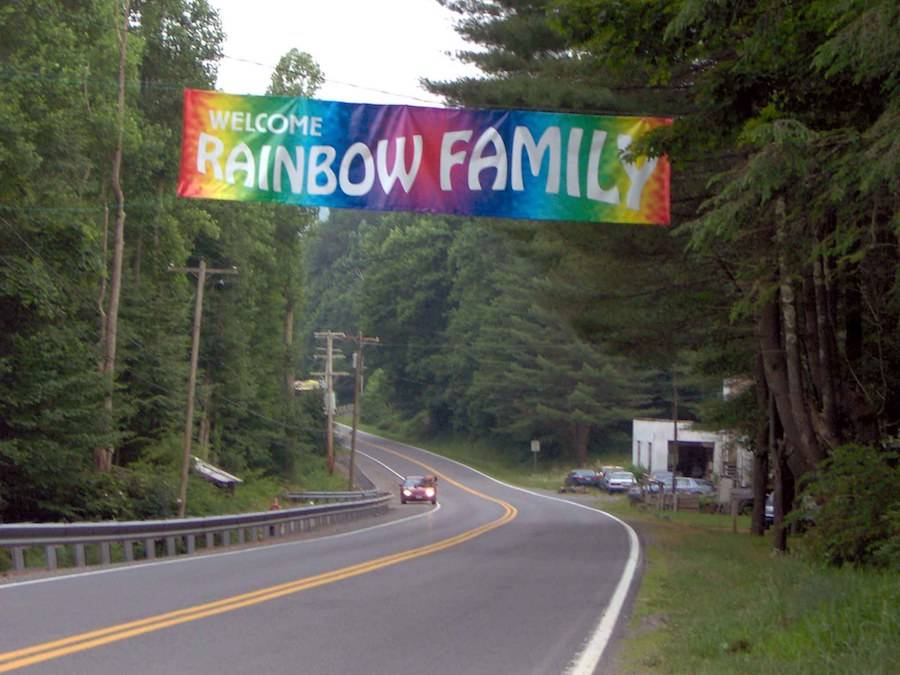 Rainbow Gathering Sign