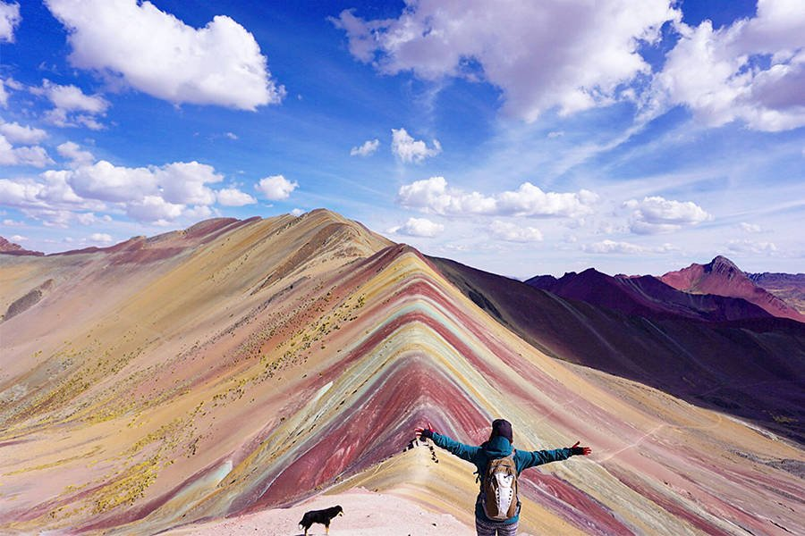 Rainbow Mountain Hiker Dog