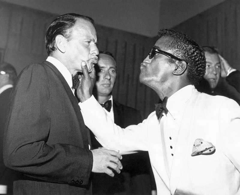 Sinatra And Davis Joking