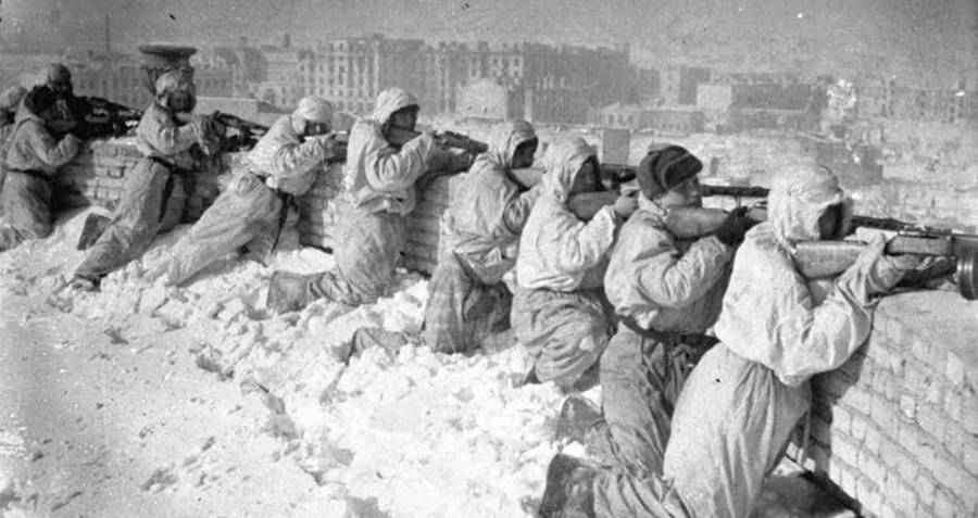 Snipers Lined Up During The Battle Of Stalingrad