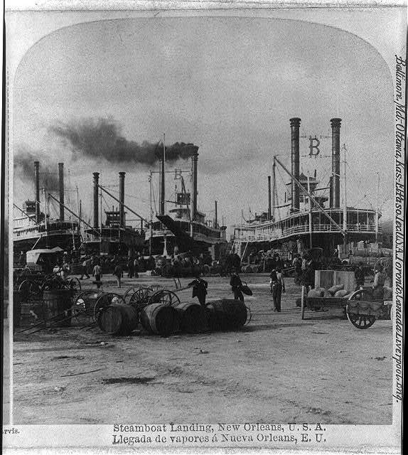 Steamboat Landing In New Orleans