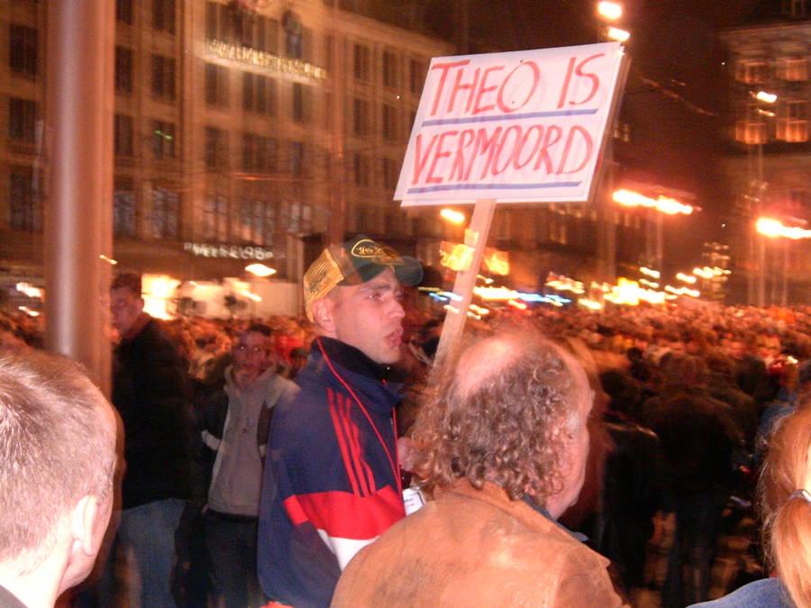 Theo Van Gogh Protestor