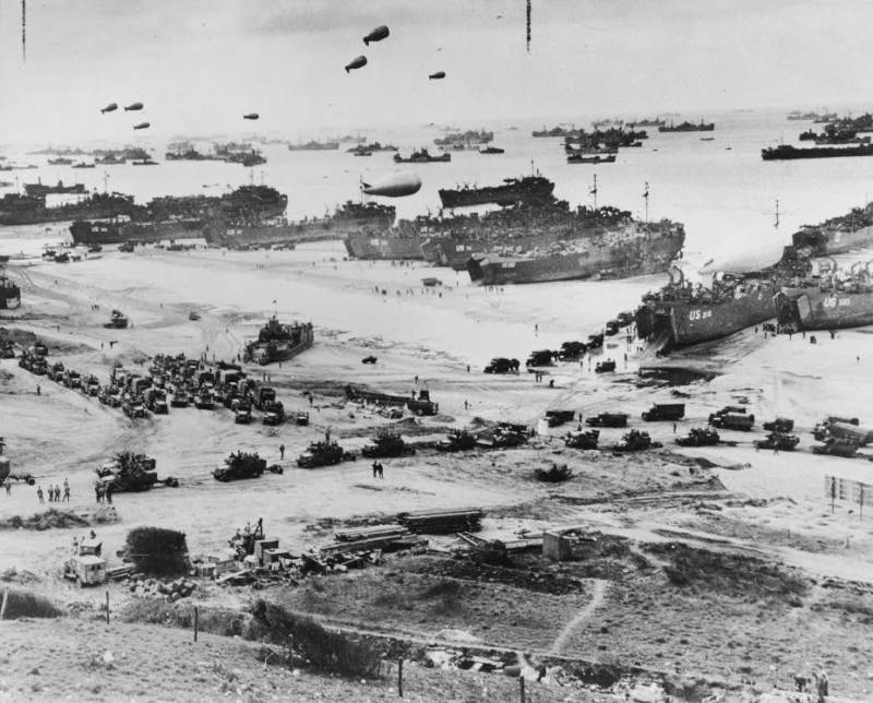 Aerial Photo Of The Invasion Of Normandy