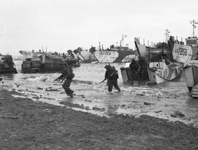 Beach Landings During Operation Overlord