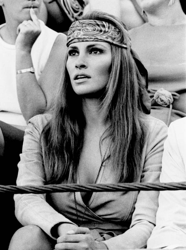Raquel Welch Watching A Bullfight