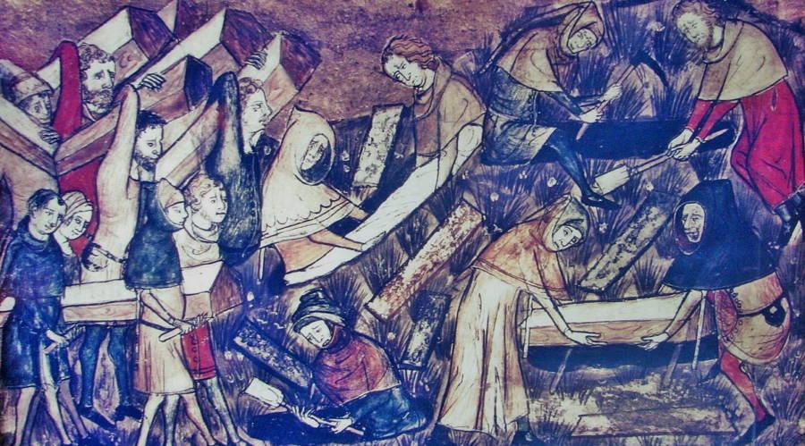 Black Death Burial