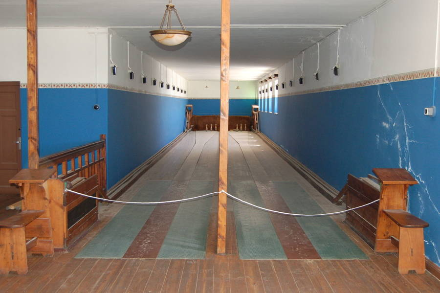 Bowling Alley In Abandoned Town