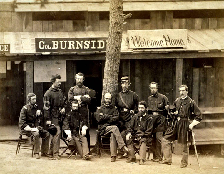 Burnside Among Soldiers