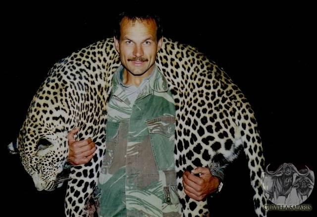 Claude Kleynhans With Leopard