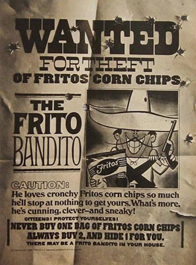 Frito Bandito Wanted
