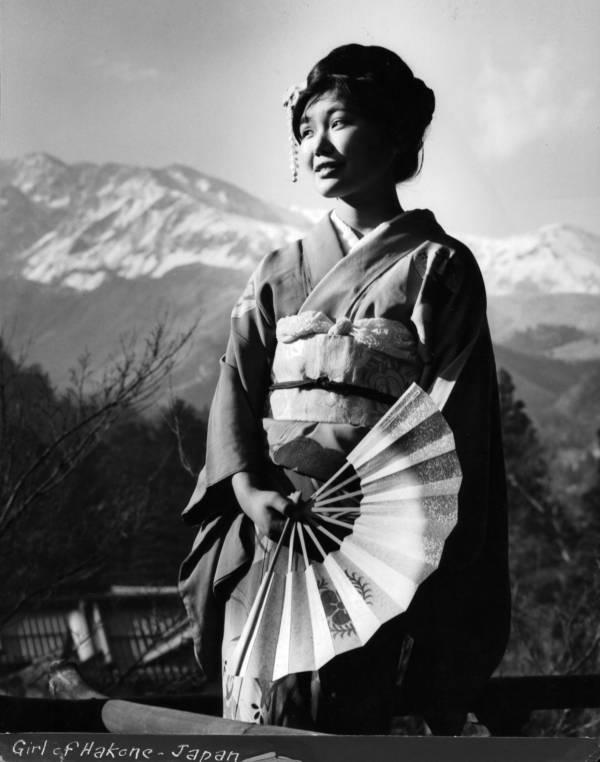 Geisha Wearing A Kimono