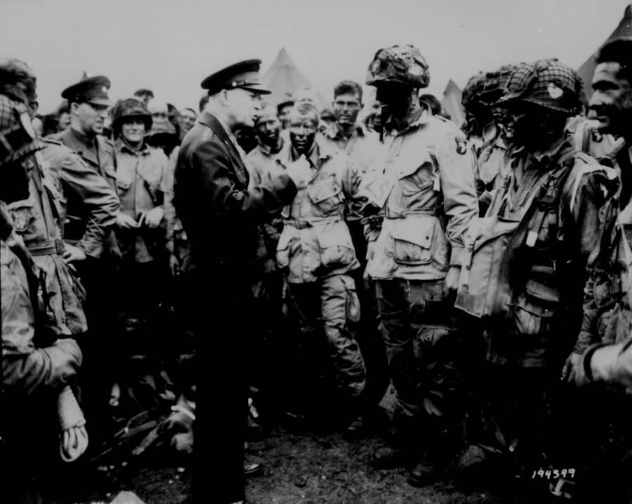 General Eisenhower Addressing Soldiers