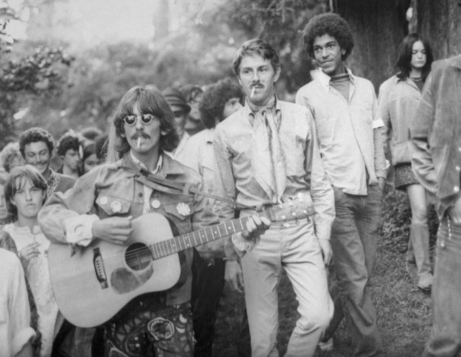 George Harrison With Posse