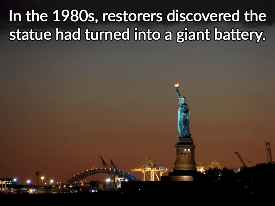Statue Of Liberty Giant Battery