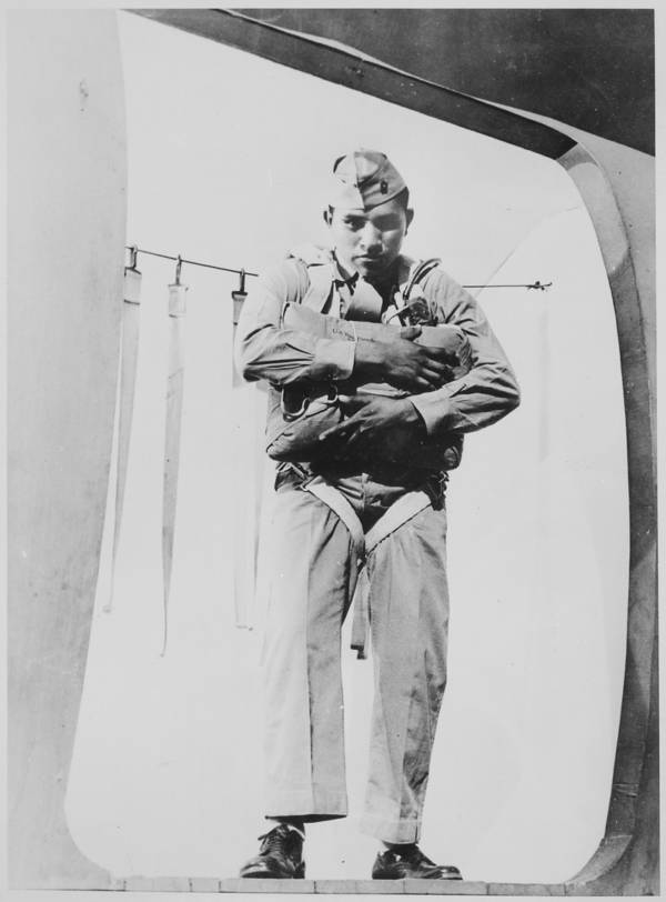 Ira Hayes At Parachute School