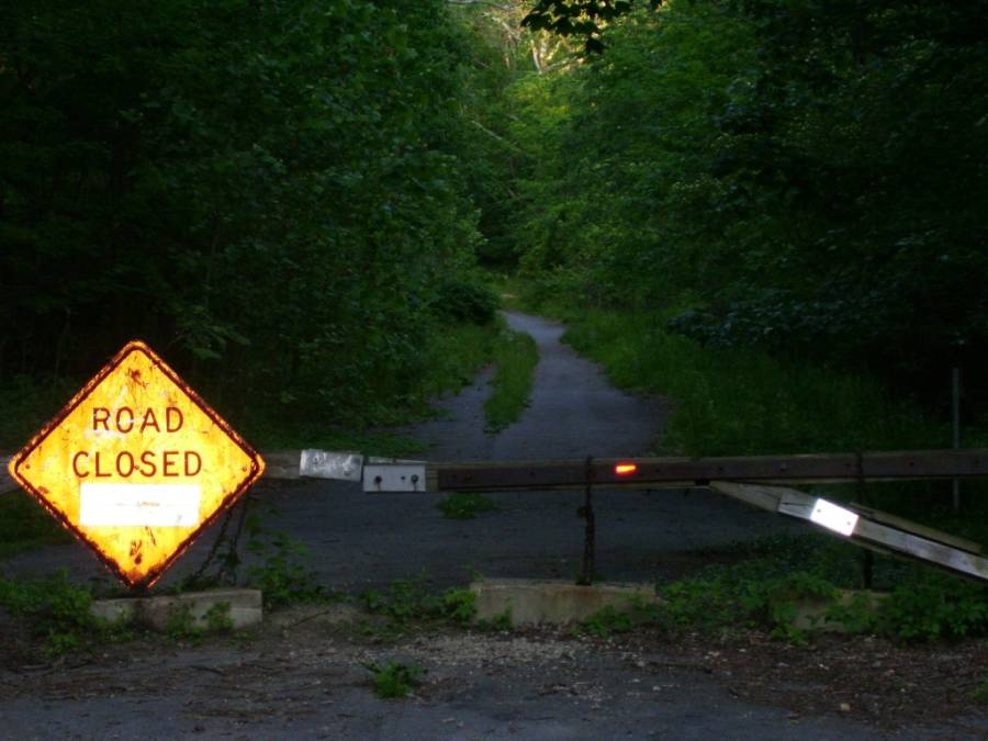 Helltown Ohio Closed Road