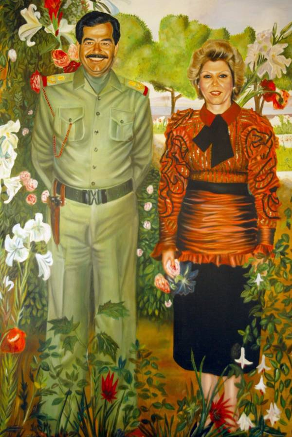 Saddam Hussein And Sajida Talfah Portriat