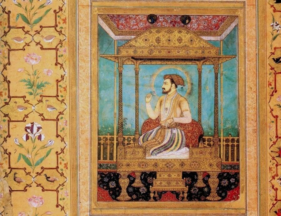 Shah Jahan On The Peacock Throne