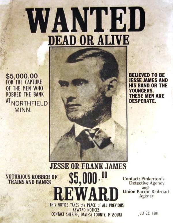 James Gang Reward Poster