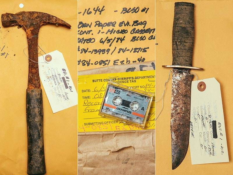 Weapons From Keddie Cabin Murders