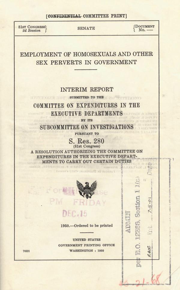 Lavender Scare Report
