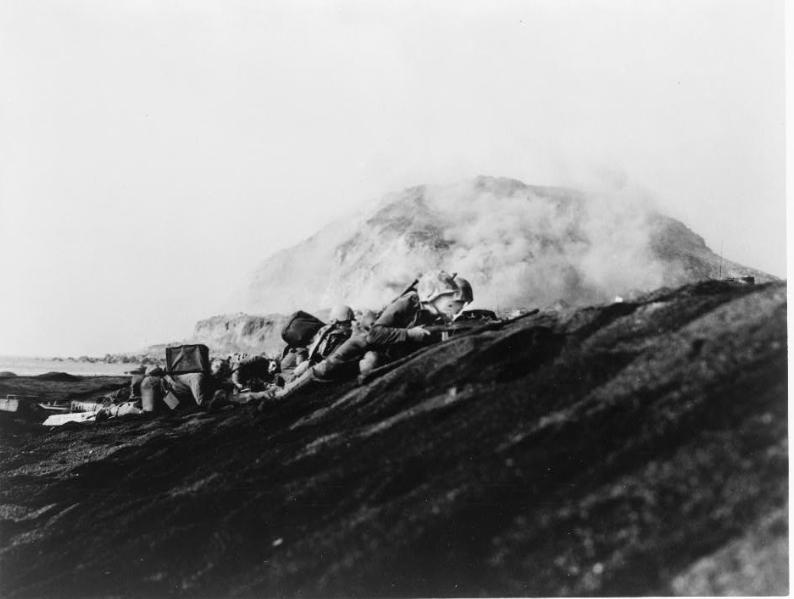 Marines Landing On Iwo Jima