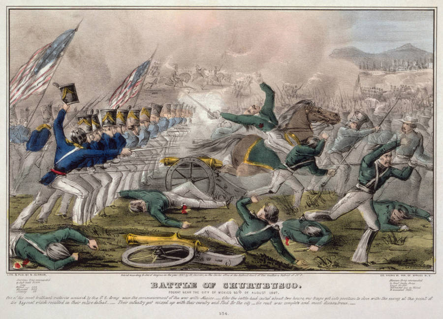 Battle of Churubusco During The Mexican American War