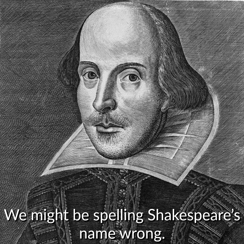 A Pencil Drawing Of Shakespeare
