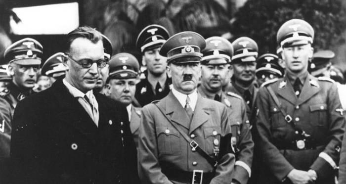 Adolf Hitler Heinrich Himmler And Reinhard Heydrich