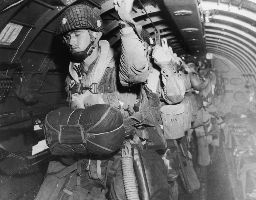 Paratroopers On D-Day During The Normandy Invasion