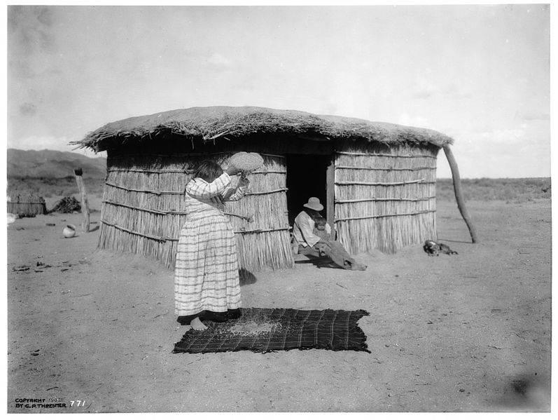 Pima Woman In 1902
