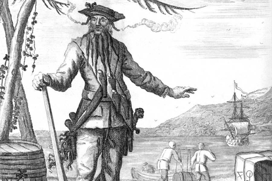 Print Blackbeard Woodes Rogers