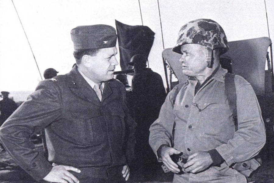Chesty Puller At Camp Pen