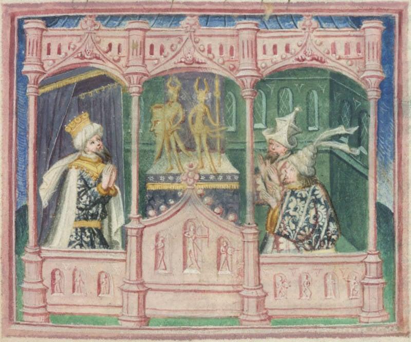 Ragnar Logbrog Worshipping Idols