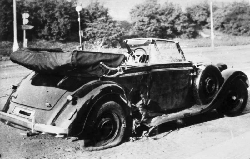 Reinhard Heydrich's Car After Assassination