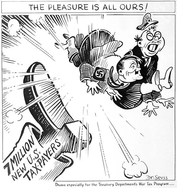 Theodor Geisel Caricature De Hitler