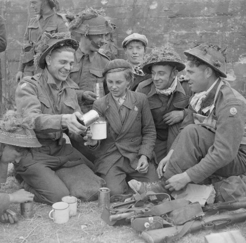 Soldiers Taking A Break