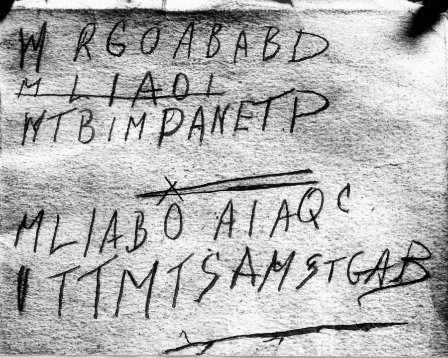 Somerton Man's Written Code