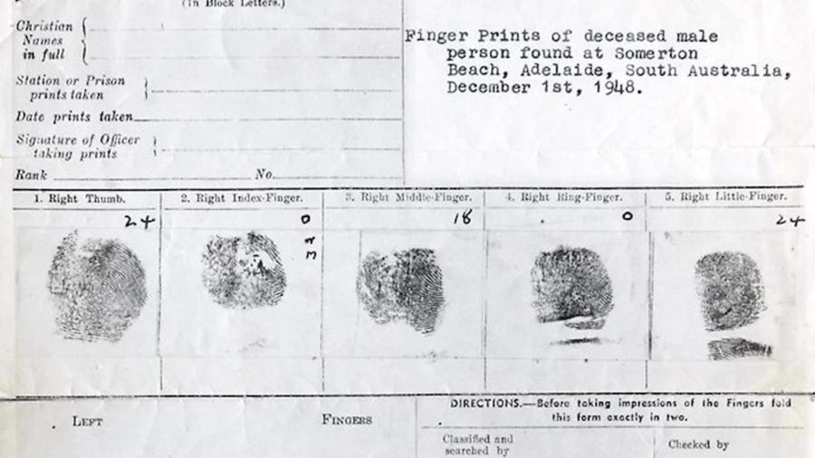 Somerton Man Fingerprints