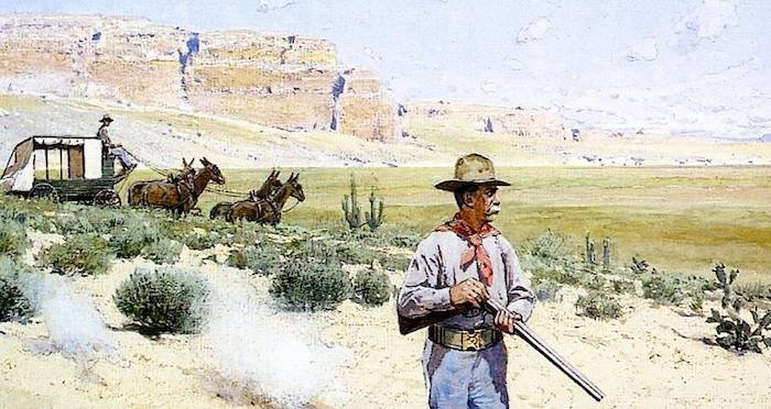 Stagecoach Robbery In The Wild West