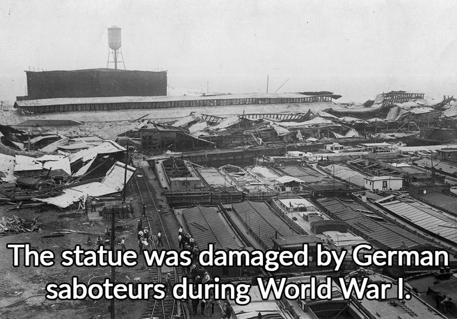 Statue Damaged