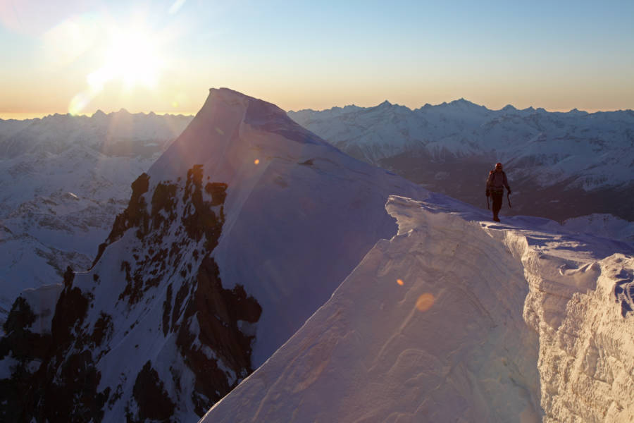 Ueli Steck On Droite Mountain