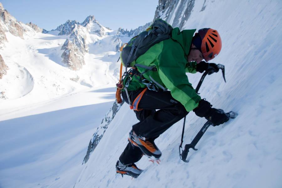 Ueli Steck Climbing A Mountain