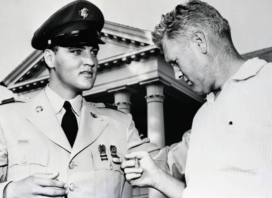 Vernon Presley With Elvis' Medals