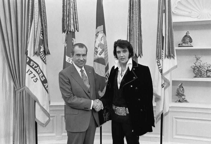 Elvis Presley With President Richard Nixon