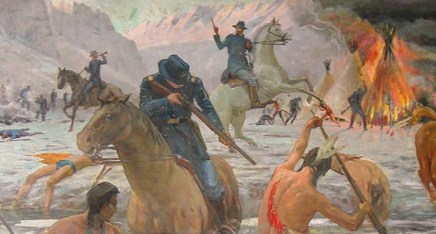 Bear River Massacre Painting