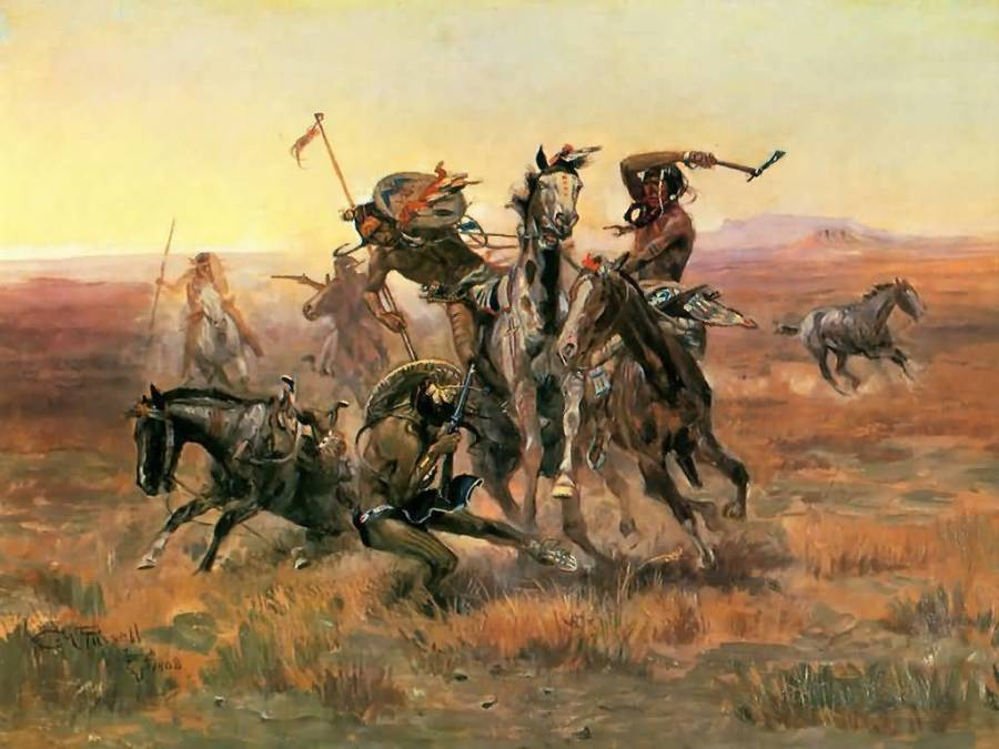 Blackfeet Attack A Crow