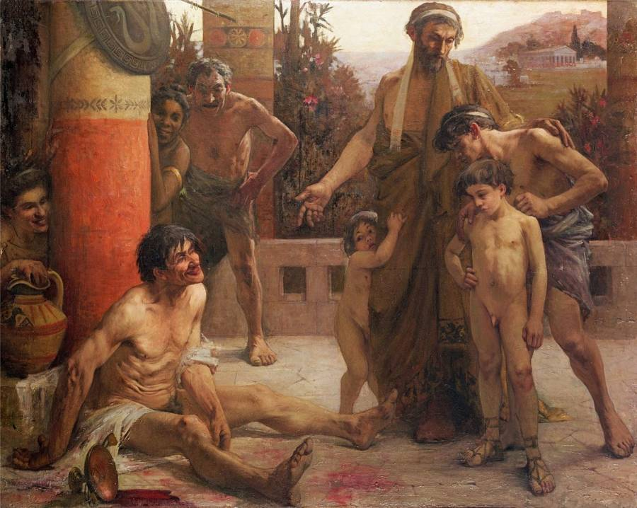 Drunken Helot Slaves
