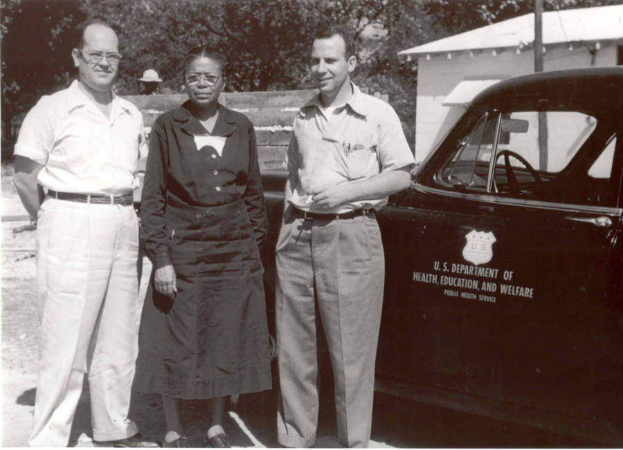 Eunice Rivers With Tuskegee Syphilis Study Doctors