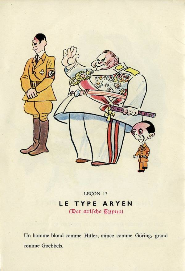 French Cartoon Making Fun Of Hermann Goring